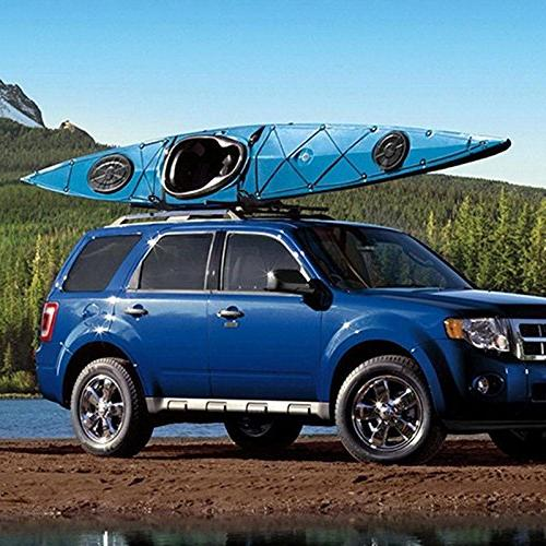 Goplus 2 Pair Rack Canoe Ski Roof Top Mounted on Car Van