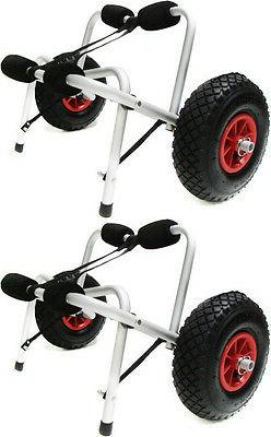 LOT2~Kayak Canoe Jon Boat Carrier Dolly Trailer Trolley Tran