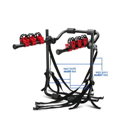SUV Car Rack 3 Bike Holder Black Portable