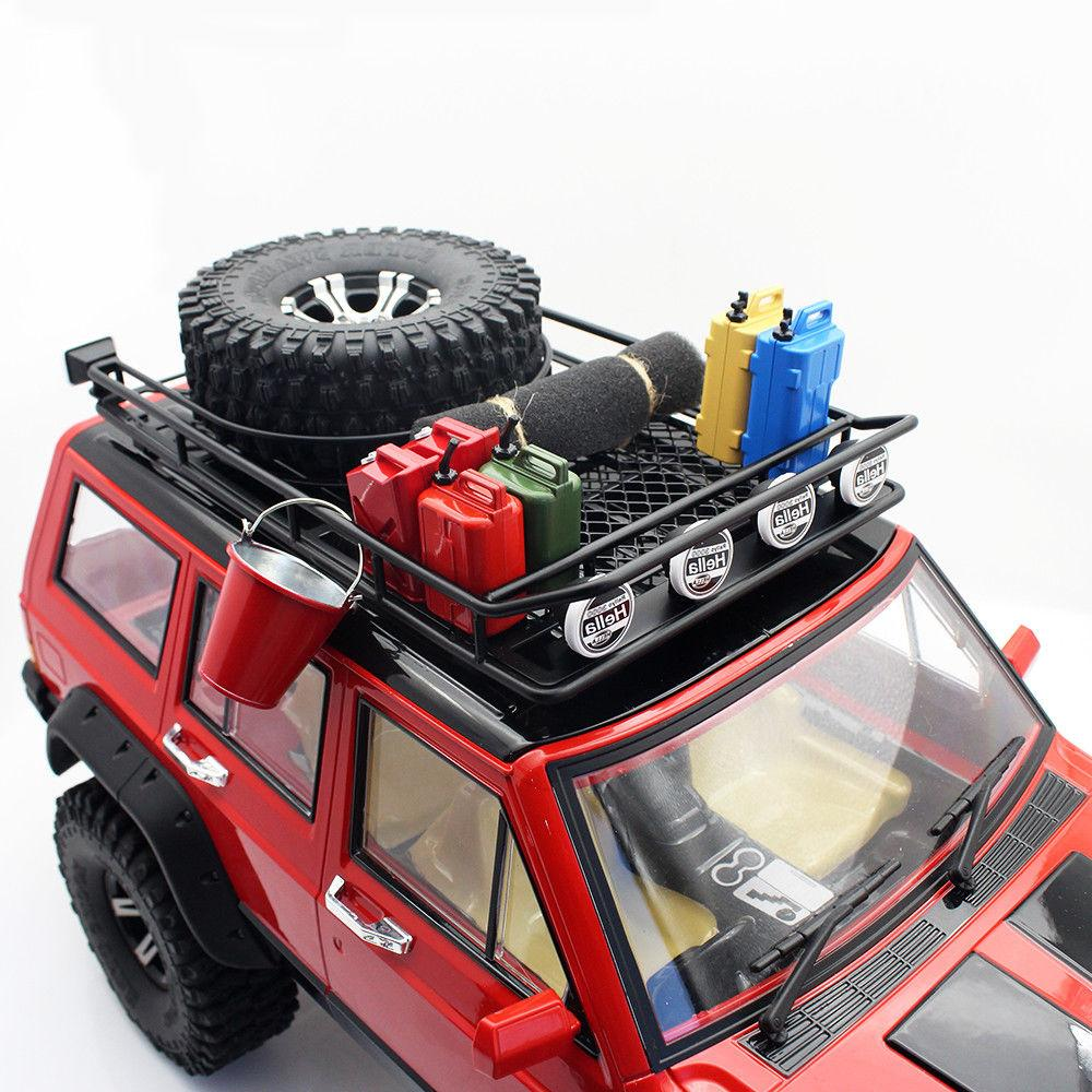 Roof Rack 4 LED Light Bar for SCX10 Rock Crawler 518BK