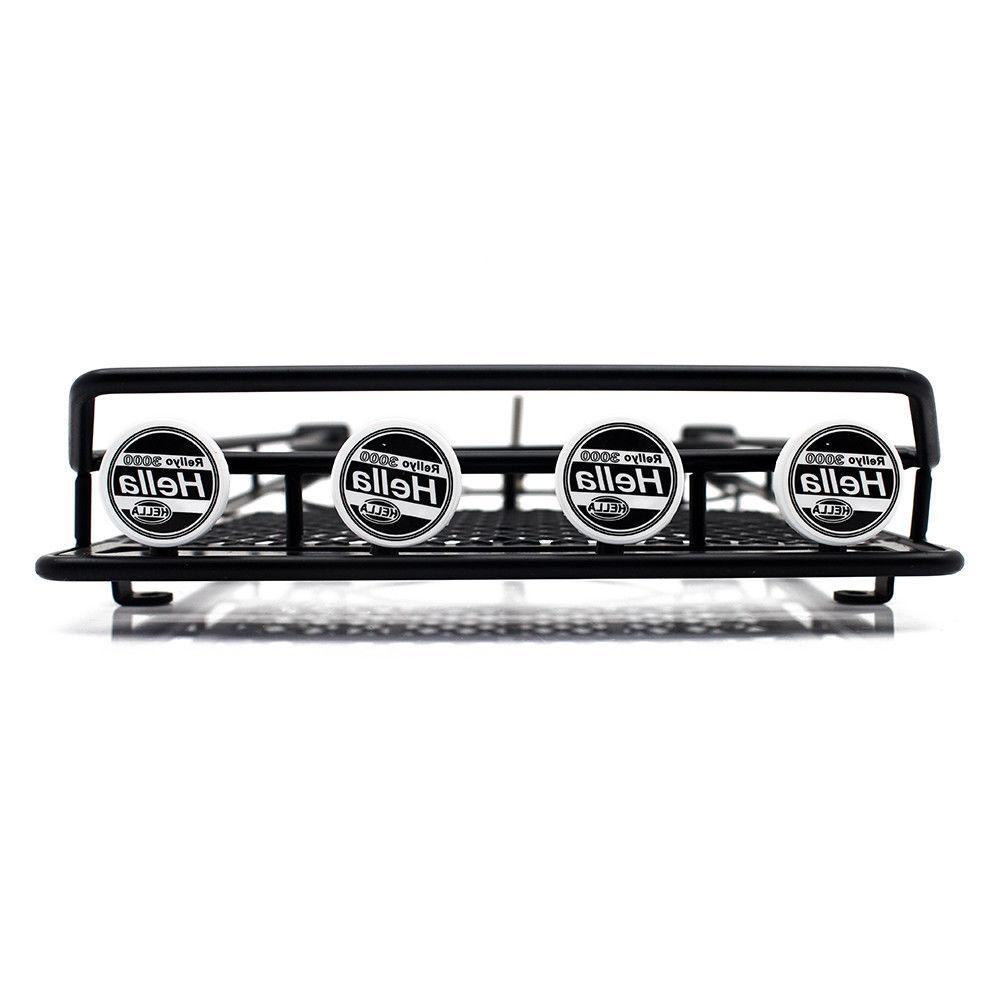 Roof Luggage Rack 4 LED Light Bar for RC Rock