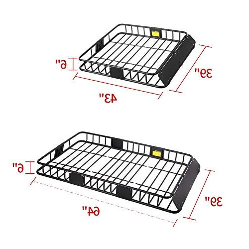 "Leader Roof Rack Cargo Basket LB Capacity 39""x Fit Cars"