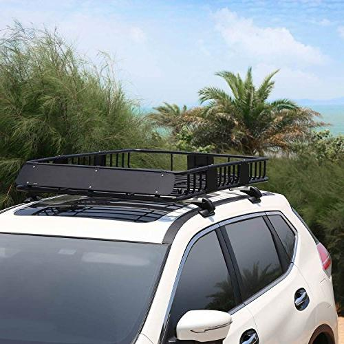 "Leader Rack Cargo Basket with 150 LB 64""x 39""x 6' Luggage Holder Carrier Basket Fit SUV Truck Cars"