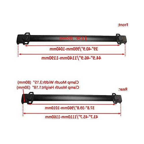 Auxmart 2Pcs Roof Rack Cross Bars for Compass with Side Bars