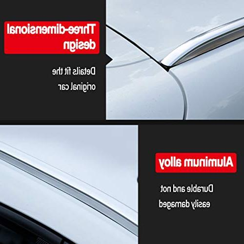 Roof Rack Bars Silver Pair Set Aluminum 2017 2018 Mazda CX-5