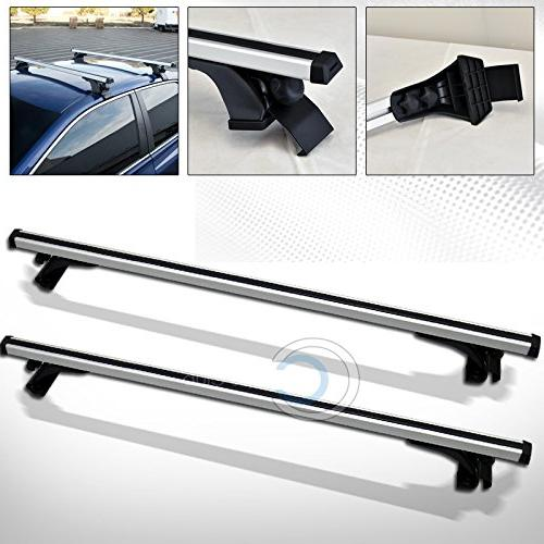 "Autobotusa 50"" Silver Window Roof Rack Cross Carrier C1"