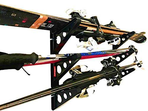 ski storage rack horizontal wall