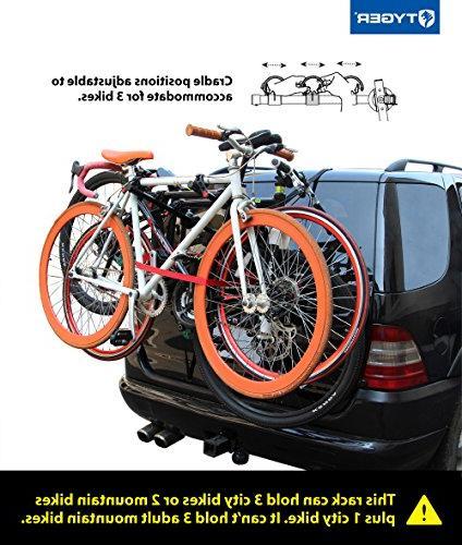 Tyger TG-RK3B203S Deluxe 3-Bike Trunk Mount Bike Rack.
