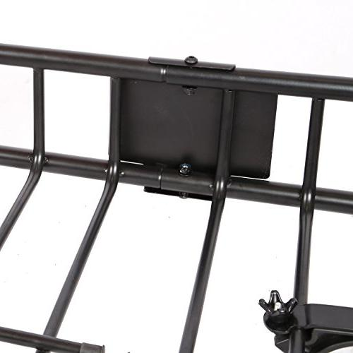 Black Roof with Car Top Luggage Holder Basket Travel SUV