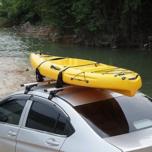 ALAVENTE Universal Saddles Cradle Canoe Kayak Carrier Boat Surf Ski Roof Top Kit