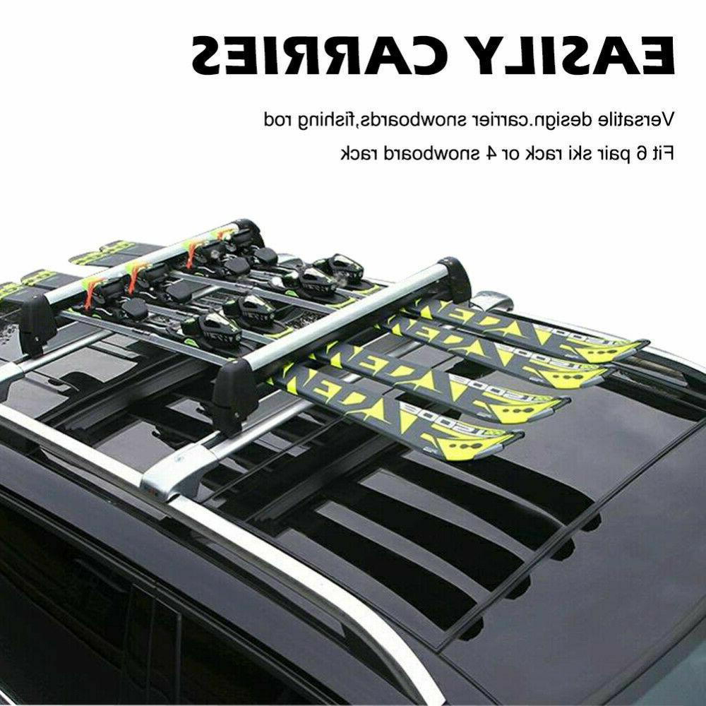 Universal Car Rack Carriers Carry Holder 4 Snowboard or Pair