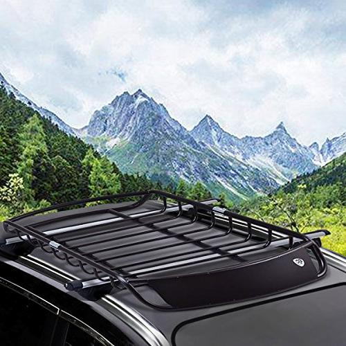 Goplus Rack Basket Heavy Car Carrier with 4
