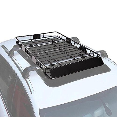 "Yescom 64"" Roof Basket Luggage Holder"