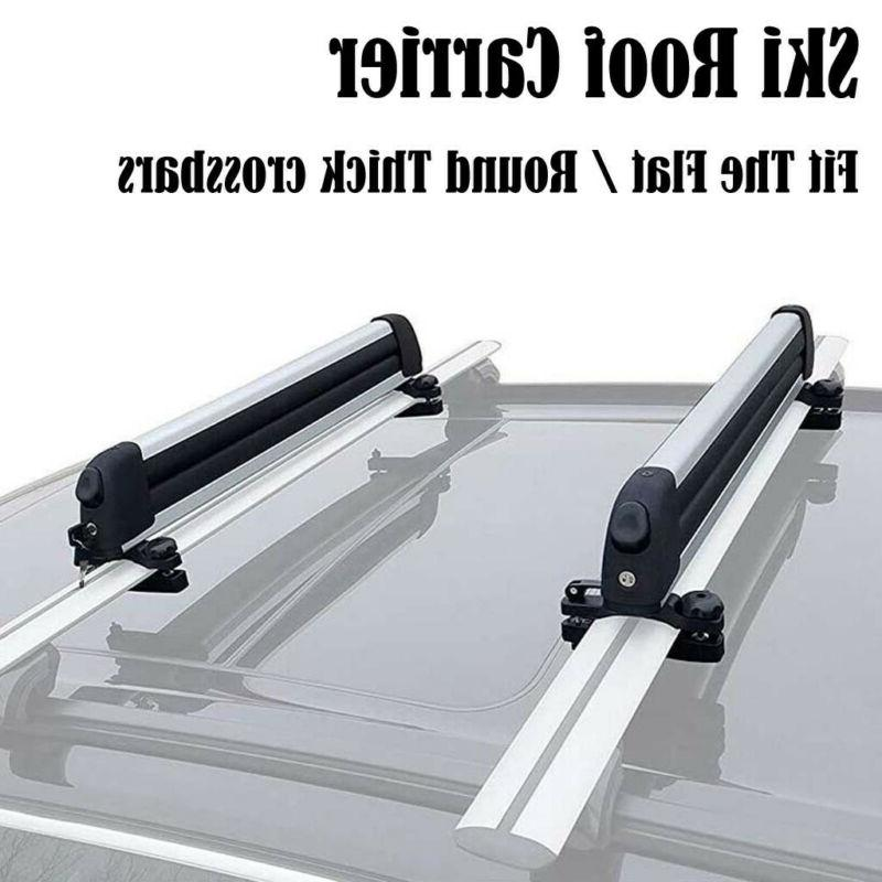 Universal Ski Snowboard Roof Rack Carriers for 6 Pair Skis o