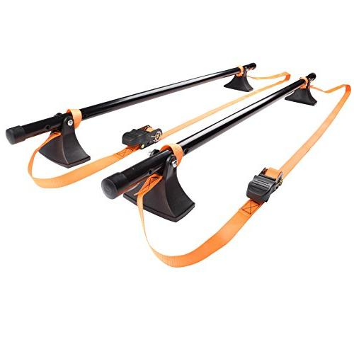 universal strap attached roof bar