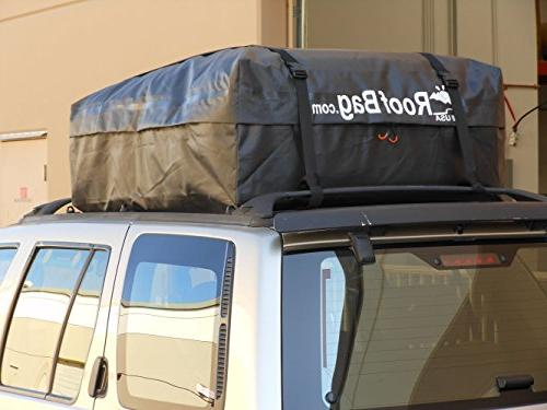 RoofBag in Triple Seal for Maximum ALL With Rails, Cross or No Rack, Carrier includes Straps