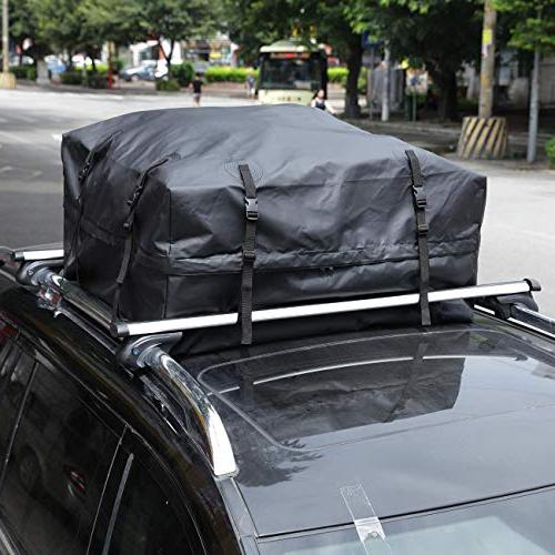 AUXMART Cargo Bag, Car for Vehicles with Racks This Roof Bag Carrier from Industrial Grade 500D PVC Tarpaulin, Heavy Duty