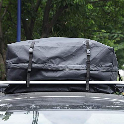 AUXMART Rooftop Cargo Bag, Car Vehicles with Racks - This Roof Bag Carrier from Tarpaulin,