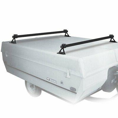 White Steel Tent Trailer Rack Truck Canopy Bike Travel Bicyc