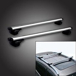 "53"" Locking Roof Rack Universal Cross bars, Anti-thief Lock"