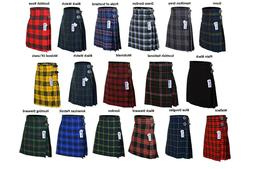 Men's 5 Yard Scottish Kilts Tartan Kilt 13 oz Highland Casua