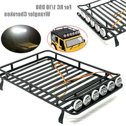 Metal Roof luggage Rack w/ 6 LED light for RC 1/10 D90 Wrang