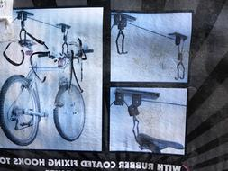 New Bike Bicycle Lift Ceiling Mounted Hoist Storage Garage H