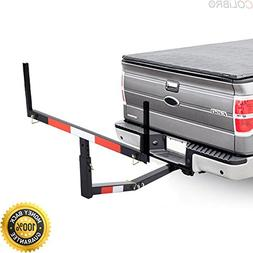 COLIBROX--Pick Up Truck Bed Hitch Extender Adjustable Steel