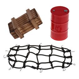 RC Roof Rack Luggage Net Oil Tank Crate Set for TRX-4 D110 1