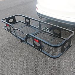 Rectangle Folding Hitch Mount Cargo Carrier Luggage Moto Han