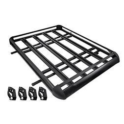 Bestauto Roof Basket Lightweight Aluminum Roof Rack Cargo Ca