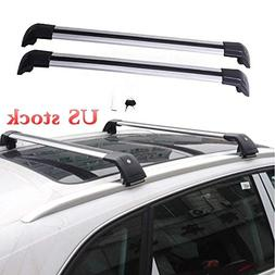 MotorFansClub Roof Rack Cross Bars Baggage Locking Top Roof