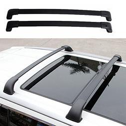 MotorFansClub Black Aluminum Top Luggage Carrier Roof Rack C