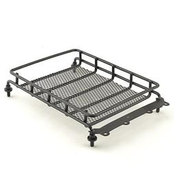 Roof Luggage Rack with LED Light Bar for 1/10 RC Cars Rock C