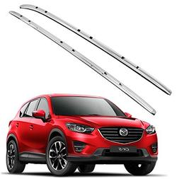 Roof Rack Side Rails Bars Silver Pair Set Aluminum Fits 2017