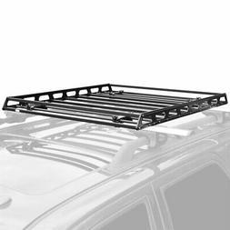 Slim Low-Profile Car Roof Rack Camping Cargo Basket
