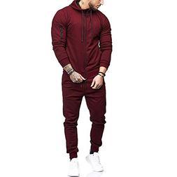 iOPQO Sweater Set for Men, Winter Patchwork Blouse Tops+Pant