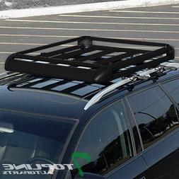 "Topline Autopart 49"" Black Square Type Roof Rail Rack Cross"