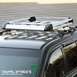"Topline Autopart 49"" Silver Square Roof Rail Rack Cross Bars"
