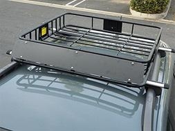 """HTTMT 43"""" Universal Black Roof Rack Cargo Carrier w/Luggage"""