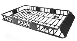 """64"""" Universal Black Roof Rack Cargo Carrier w/ with Extensio"""