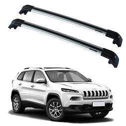 Universal Car Wagon Aluminum Roof Top Rack Cross Bars Luggag