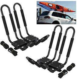 Car Rack & Carriers© Universal 2 Pairs J- shape Rack HD Kay