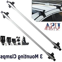 2 Pcs 47 Inch Universal Pair Car Top Luggage Cross Bar Roof