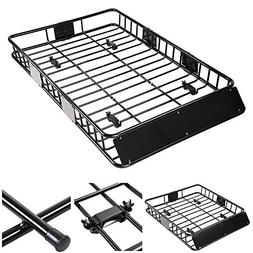 "Yescom Universal 64"" Roof Rack Car Top Cargo Basket Carrier"