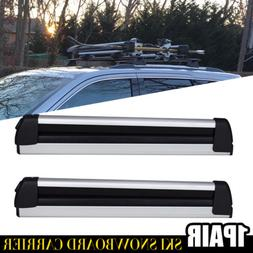 Universal Winter Collapsible Ski Snowboard Crossbar Roof Rac