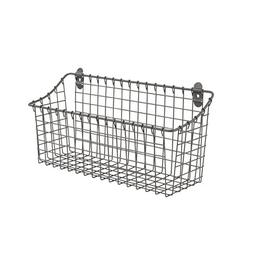Spectrum Diversified Vintage Wall Mount Storage Basket, Extr