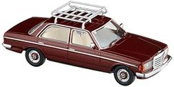 Busch 46864 MB W123 Limo with Roof Rack HO Scale Model Vehic