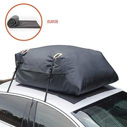 MARKSIGN 100% Waterproof Car Rooftop Cargo Carrier Bag, 15 c