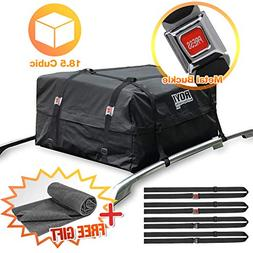 100% Waterproof Roof Cargo Bag 18.5 Cubic Ft Dual Seam with